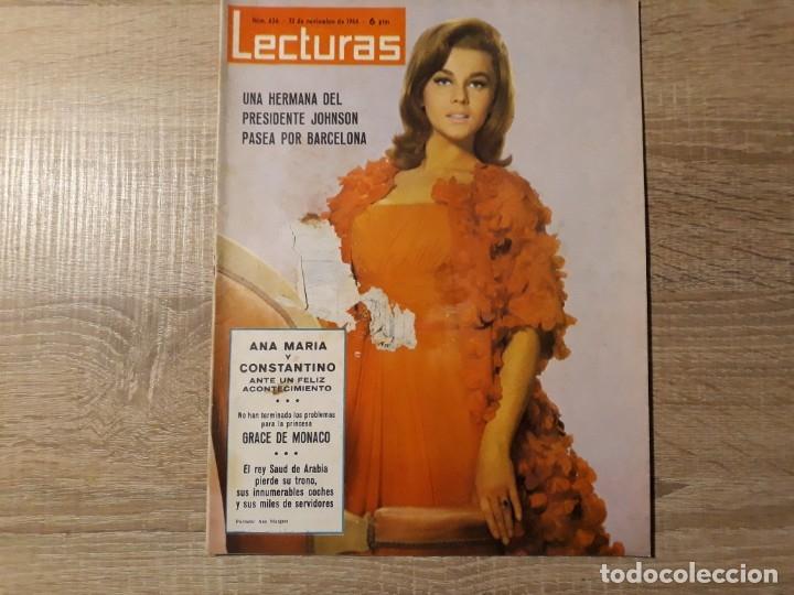 GRACE DE MONACO ETC..LECTURAS 656 AÑO 1964 (Coleccionismo - Revistas y Periódicos Modernos (a partir de 1.940) - Revista Lecturas)