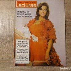 Coleccionismo de Revistas: GRACE DE MONACO ETC..LECTURAS 656 AÑO 1964. Lote 182407023