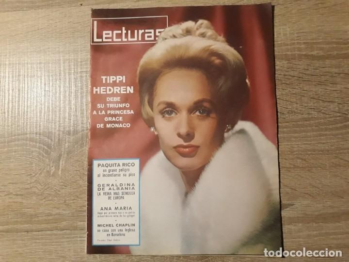 TIPPI HEDREN, PAQUITA RICO RTCLECTURAS 666 AÑO 1965 (Coleccionismo - Revistas y Periódicos Modernos (a partir de 1.940) - Revista Lecturas)