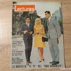 Coleccionismo de Revistas: DUO DINAMICO, AVA GARDNER ,PRINCIPE FELIPE,LECTURAS 685 AÑO 1965. Lote 182408565
