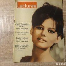 Coleccionismo de Revistas: CLAUDIA CARDINALE,GRACE Y RAINIERO ETC.LECTURAS 561 AÑO 1963. Lote 182409577