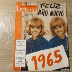 Coleccionismo de Revistas: PILI Y MILI, ALAIN.DELON ETCLECTURAS 663 AÑO 1965. Lote 182410053