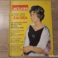 Coleccionismo de Revistas: LA PRINCESA SOFÍA MADRE,REYES DE BELGICA ETC..LECTURAS 610 AÑO 1965. Lote 182410270