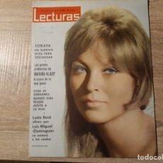 Coleccionismo de Revistas: LUCIA BOSE,DINA DE JORDANIA,ETC.LECTURAS 567 AÑO 1963. Lote 182411163