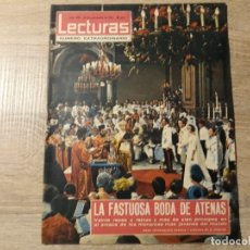 Coleccionismo de Revistas: GRAN BODA EN ATENAS ETC..LECTURAS 649 AÑO 1964. Lote 182411375
