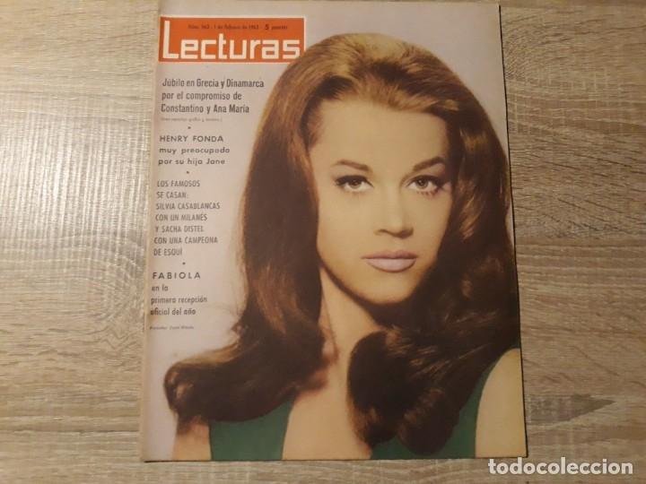 CONSTANTINO Y ANA DE GRECIA Y DINAMARCA,FABIOLA ETC..LECTURAS 563 AÑO 1963 (Coleccionismo - Revistas y Periódicos Modernos (a partir de 1.940) - Revista Lecturas)