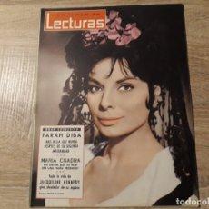 Coleccionismo de Revistas: FARAH DIVA, JACQUELINE KENNEDY ETC.LECTURAS 573 AÑO 1963. Lote 182411741