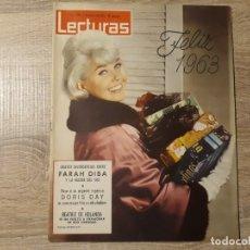 Coleccionismo de Revistas: FARAH DIVA, DORIS DAY, BEATRIZ DE HOLANDA,LECTURAS 559 AÑO 1963. Lote 182414456