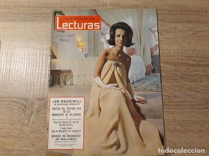 GRACE DE MONACO ETC LECTURAS 650 AÑO 1964 (Coleccionismo - Revistas y Periódicos Modernos (a partir de 1.940) - Revista Lecturas)