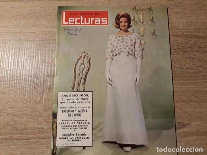 BALDUINO FABIOLA, JACQUELINE KENNEDY ETC LECTURAS 642 AÑO 1964 (Coleccionismo - Revistas y Periódicos Modernos (a partir de 1.940) - Revista Lecturas)