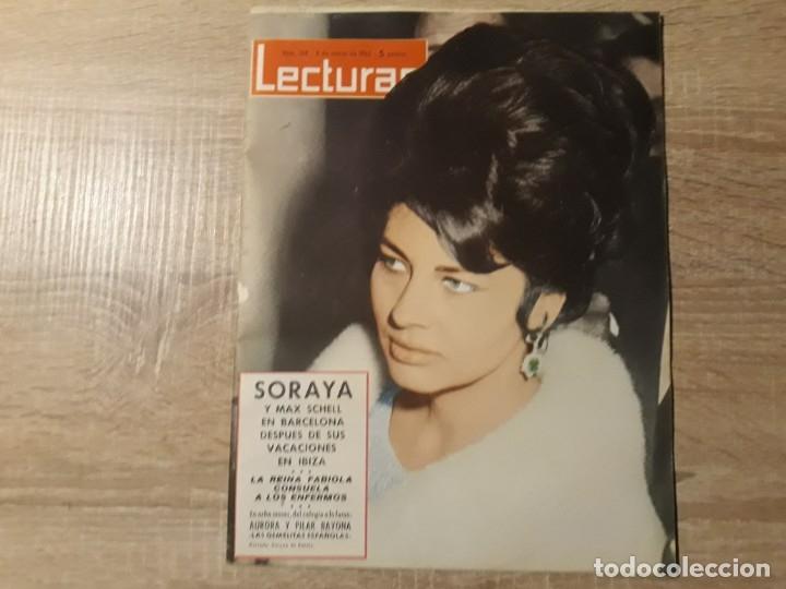FABIOLA ,SORAYA ETC .LECTURAS 568 AÑO 1963 (Coleccionismo - Revistas y Periódicos Modernos (a partir de 1.940) - Revista Lecturas)