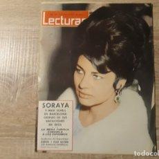 Coleccionismo de Revistas: FABIOLA ,SORAYA ETC .LECTURAS 568 AÑO 1963. Lote 182415811