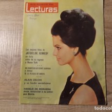 Coleccionismo de Revistas: JACQUELINE KENNEDY, ALAIN DELON ETC.LECTURAS 645 AÑO 1964. Lote 182416793