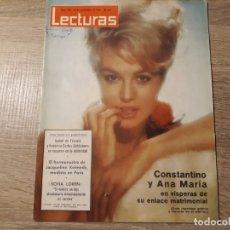 Coleccionismo de Revistas: SOFIA LOREN,CONSTANTINO Y ANA MARÍA ETC.LECTURAS 648 AÑO 1964. Lote 182417135