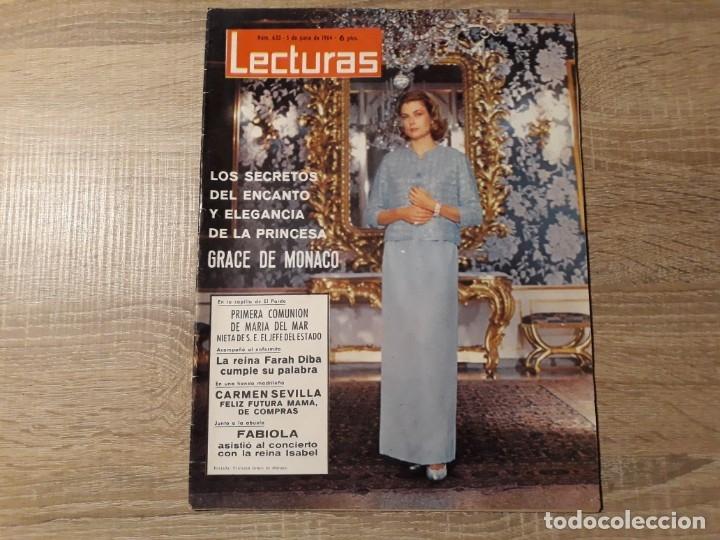 CARMEN SEVILLA, GRACE DE MONACO.ETC.LECTURAS 633 AÑO 1964 (Coleccionismo - Revistas y Periódicos Modernos (a partir de 1.940) - Revista Lecturas)