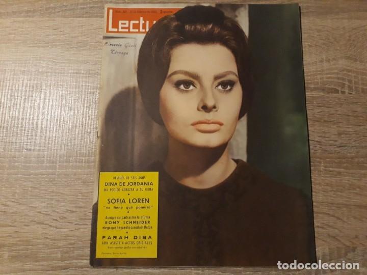 SOFIA LOREN ETCLECTURAS 565 AÑO 1963 (Coleccionismo - Revistas y Periódicos Modernos (a partir de 1.940) - Revista Lecturas)