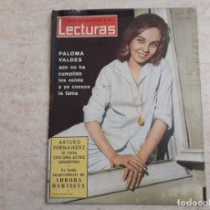 Coleccionismo de Revistas: PALOMA VALDES, AURORA BAUTISTA ETC.LECTURAS 596 AÑO 1963. Lote 182451452