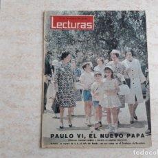 Coleccionismo de Revistas: LECTURAS 584 AÑO 1963.PABLO VI.SRA. JEFE DEL ESTADO. ETC.. Lote 182451995
