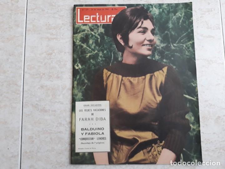 FARAH DIVA BALDUINO FABIOLA LECTURAS 579 AÑO 1963 (Coleccionismo - Revistas y Periódicos Modernos (a partir de 1.940) - Revista Lecturas)