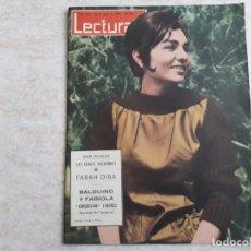 Coleccionismo de Revistas: FARAH DIVA BALDUINO FABIOLA LECTURAS 579 AÑO 1963. Lote 182452946