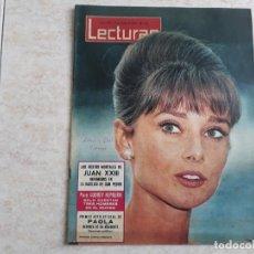 Coleccionismo de Revistas: AUDREY HEPBURN ETC LECTURAS 582 AÑO 1963. Lote 182453351