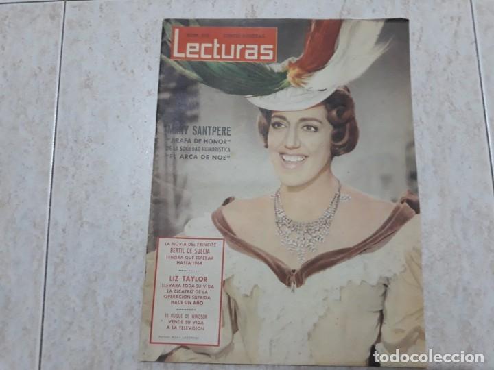 MARI SANTPERE,LIZ TAYLOR.ETC..LECTURAS 518 AÑO 1962. (Coleccionismo - Revistas y Periódicos Modernos (a partir de 1.940) - Revista Lecturas)