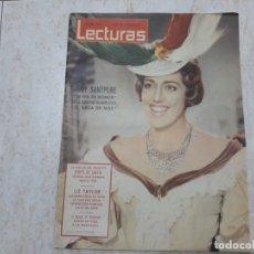 Coleccionismo de Revistas: MARI SANTPERE,LIZ TAYLOR.ETC..LECTURAS 518 AÑO 1962.. Lote 183175953