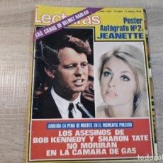Coleccionismo de Revistas: KENNEDY, SHARON TATE,JEANETTE ETC..LECTURAS 1037 AÑO 1972. Lote 183178623