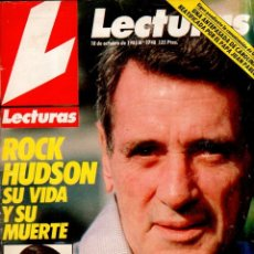 Coleccionismo de Revistas: REVISTA LECTURAS. Nº 1748. OCTUBRE. 1985. ROCK HUDSON SU VIDA Y SU MUERTE.. Lote 184338311