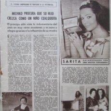 Coleccionismo de Revistas: RECORTE REVISTA LECTURAS Nº 594 1963 SARA MONTIEL, ALIMENTO MILO. Lote 185877095