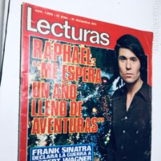 Coleccionismo de Revistas: REVISTA LECTURAS 1028 RAPHAEL ORIGINAL ANTIGUO. R80. Lote 186074563