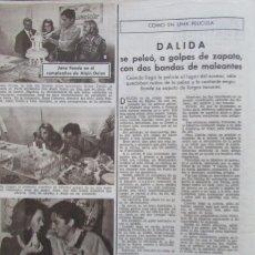 Coleccionismo de Revistas: RECORTE REVISTA LECTURAS 606 1963 DALIDA, ALAIN DELON, JANE FONDA. Lote 186135253