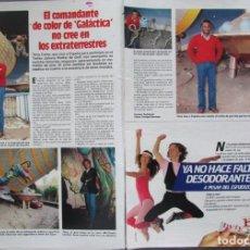 Coleccionismo de Revistas: RECORTE REVISTA LECTURAS 1649 1983 TERRY CARTER, GALACTICA.. Lote 186273152