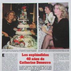 Coleccionismo de Revistas: RECORTE REVISTA LECTURAS 1649 1983 CATHERINE DENEUVE. Lote 186273316
