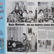 Coleccionismo de Revistas: RECORTE REVISTA LECTURAS 1649 1983 RUIZ MATEOS. Lote 186273365