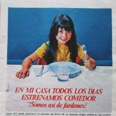 Coleccionismo de Revistas: RECORTE REVISTA LECTURAS 922 1969 HOJA PUBLICIDAD RAILITE, TURRON LA JIJONENCA. Lote 186346617