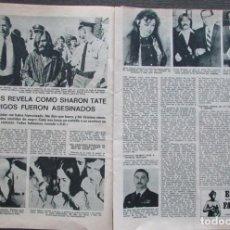 Coleccionismo de Revistas: RECORTE REVISTA LECTURAS 922 1969 SHARON TATE, CHARLES MANSON, SUSAN ATKINS. Lote 186347008