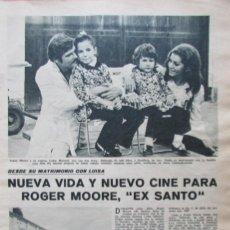 Coleccionismo de Revistas: RECORTE REVISTA LECTURAS 922 1969 ROGER MOORE, ALFOMBRAS UNIVERSAL. CREVILLENTE. . Lote 186347162