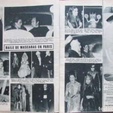 Coleccionismo de Revistas: RECORTE REVISTA LECTURAS 922 1969 ROGER VIVIER. 3 PGS. BAILE DE MASCARAS DE PARIS. Lote 186347390
