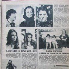 Coleccionismo de Revistas: RECORTE REVISTA LECTURAS 922 1969 CLAUDIE LANGE, MARIASCICOLONE, DUSTIN HOFFMAN. Lote 186347540