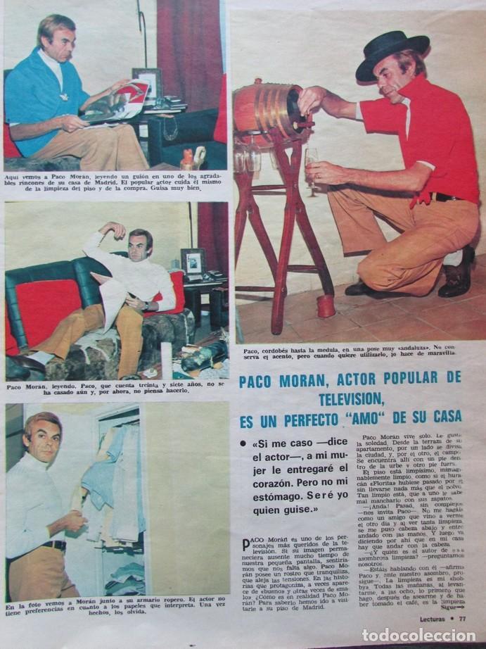 RECORTE REVISTA LECTURAS 922 1969 PACO MORAN (Coleccionismo - Revistas y Periódicos Modernos (a partir de 1.940) - Revista Lecturas)