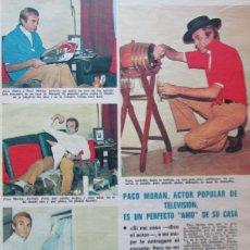 Coleccionismo de Revistas: RECORTE REVISTA LECTURAS 922 1969 PACO MORAN. Lote 186348047