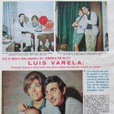 Coleccionismo de Revistas: RECORTE REVISTA LECTURAS 922 1969 LUIS VARELA.. Lote 186348111