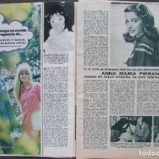 Coleccionismo de Revistas: RECORTE REVISTA LECTURAS Nº 841 1968 ANNA MARIA PIERANGELI. Lote 186362008