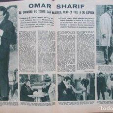 Coleccionismo de Revistas: RECORTE REVISTA LECTURAS Nº 841 1968 OMAR SHARIF. Lote 186362183