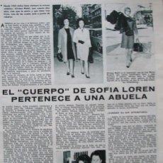 Coleccionismo de Revistas: RECORTE REVISTA LECTURAS Nº 841 1968 SOFIA LOREN. Lote 186362501