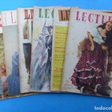 Coleccionismo de Revistas: LECTURAS, 7 ANTIGUAS REVISTAS, AÑOS 1950 - VER FOTOS ADICIONALES. Lote 186425990