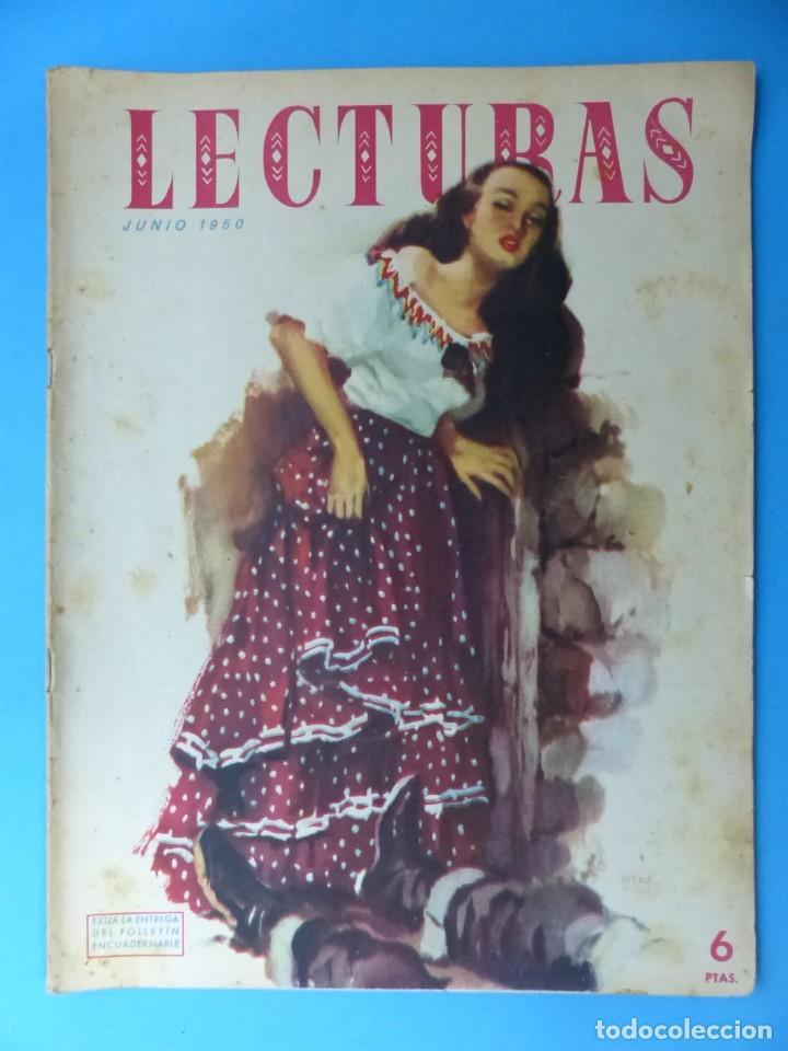 Coleccionismo de Revistas: LECTURAS, 7 ANTIGUAS REVISTAS, AÑOS 1950 - VER FOTOS ADICIONALES - Foto 2 - 186425990