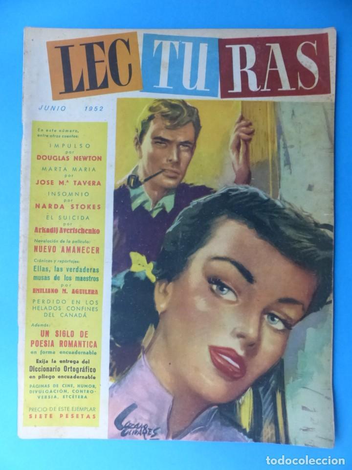 Coleccionismo de Revistas: LECTURAS, 7 ANTIGUAS REVISTAS, AÑOS 1950 - VER FOTOS ADICIONALES - Foto 3 - 186425990