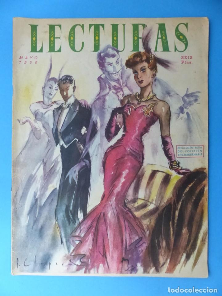 Coleccionismo de Revistas: LECTURAS, 7 ANTIGUAS REVISTAS, AÑOS 1950 - VER FOTOS ADICIONALES - Foto 4 - 186425990